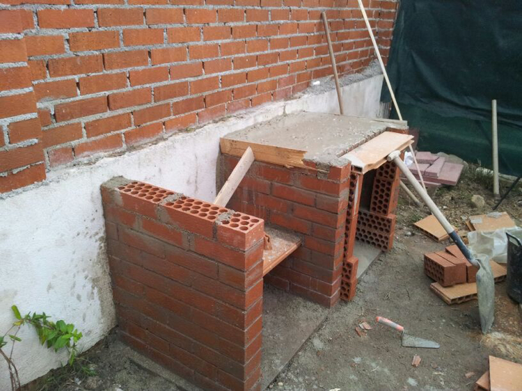 barbecue place garden build brick Home page house wall