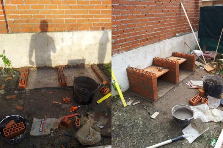 clinker builds grill place garden mortar 1
