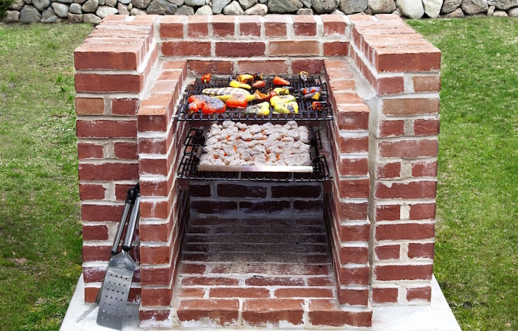 diy brick clinkers build grill place garden simply