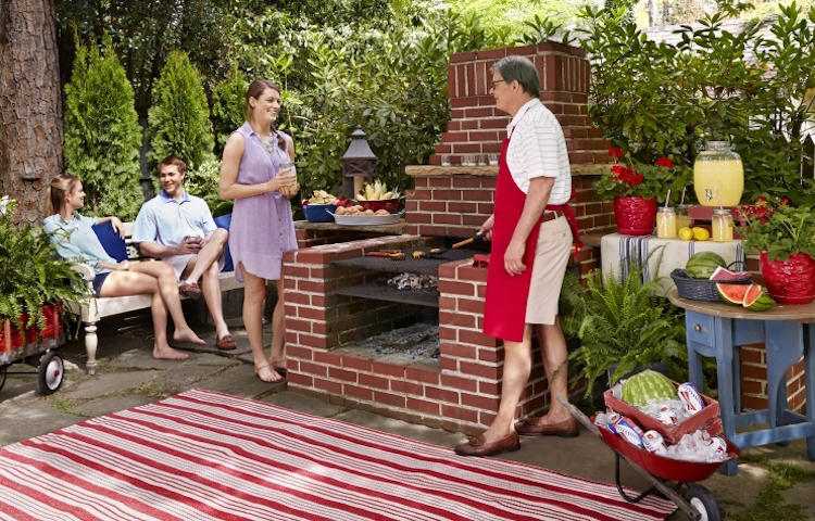 grill place garden backyard family crickets build