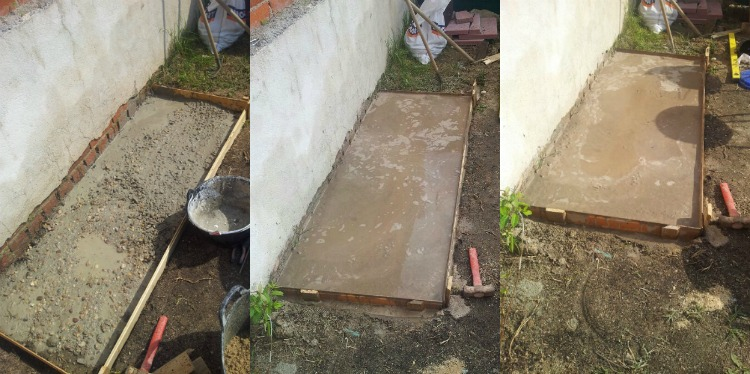 instruction builds grill place garden mortar landing foundation 1