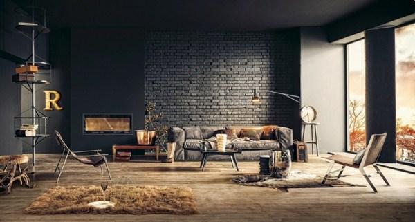 interior decoration ideas interior designers interior design ideas style loft wall steel furniture dark organic