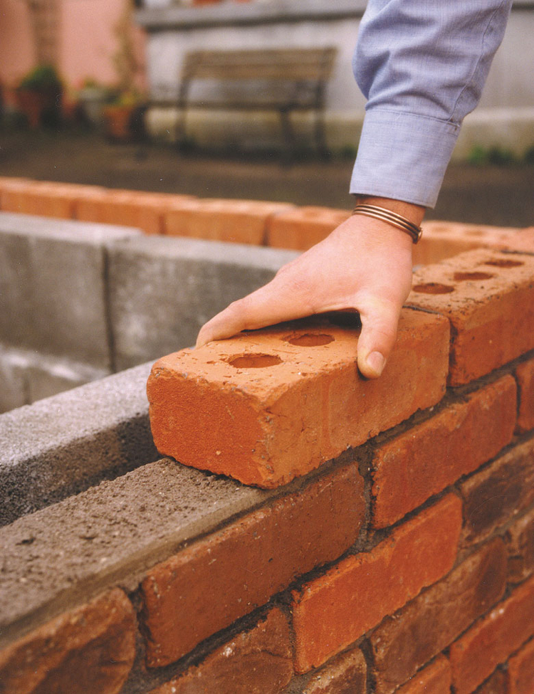 materials build grill place garden mortar components