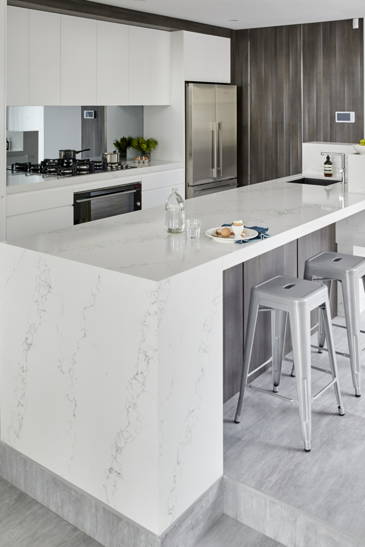 Natural Stone In The Kitchen Modern Trend Optics For