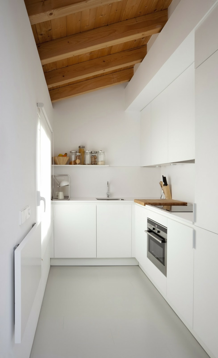 small kitchen minimalist l form knows deviation from pulse flatness wood shelf upper cabinet