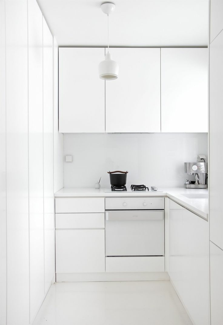 small kitchen mono chrome white brightens facility tipps ideas