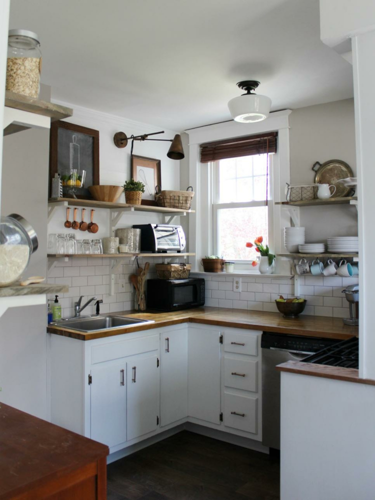 small kitchen traditionally apartment niche area u form idea