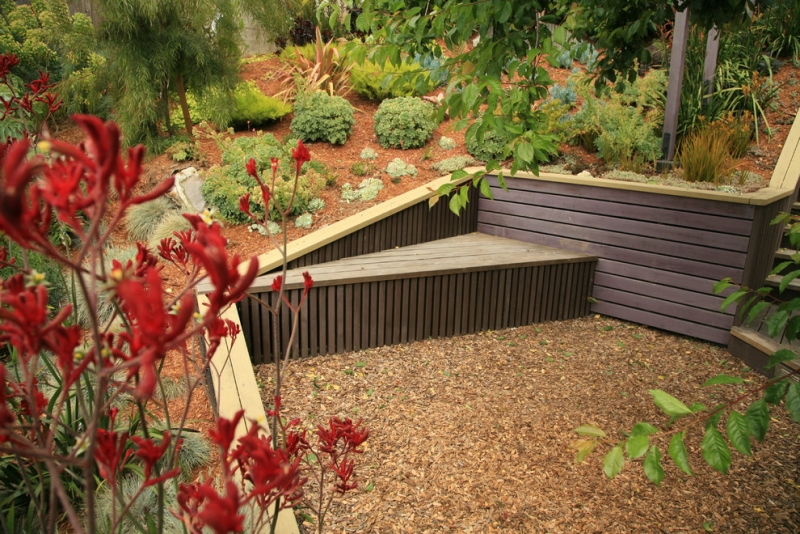 Seatings-in Garden garden bench-slope