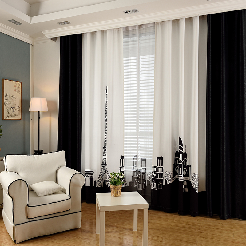 Black and White Paris Curtains
