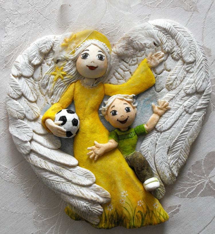 salt dough-ideas-guardian angel-gift-football-wing-precision-work