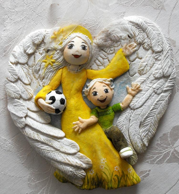 salt dough-ideas-guardian angel-gift-football-wing-precision-work