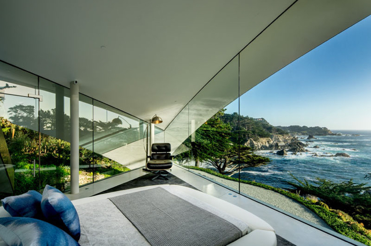facade-glass-concrete-light-glass wall-bedroom