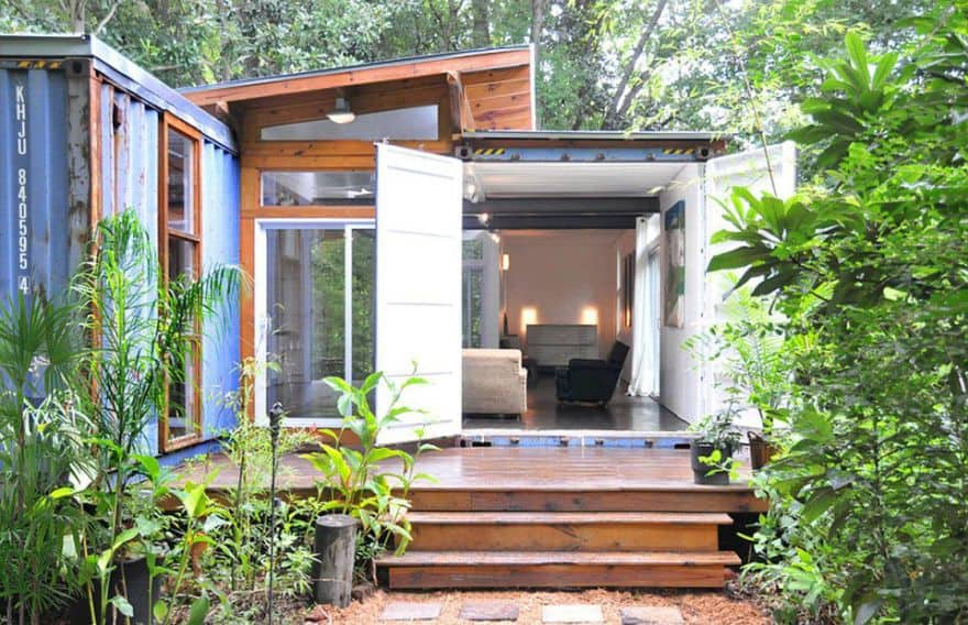 beautiful shipping container home
