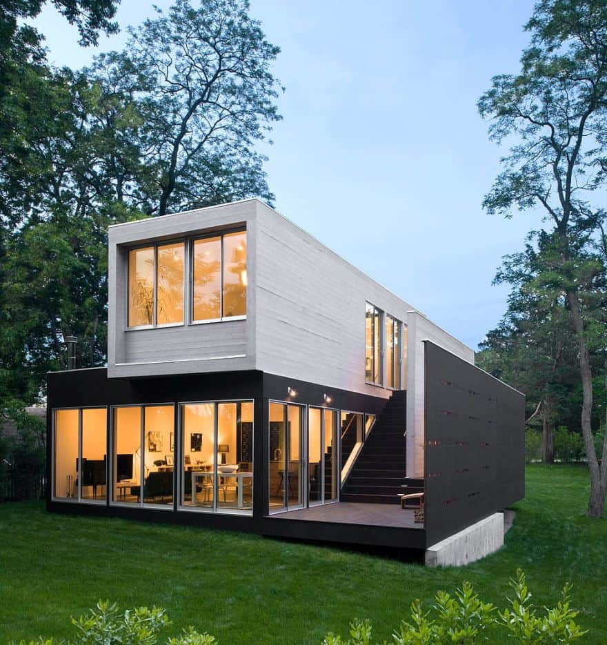 fashionable shipping container house
