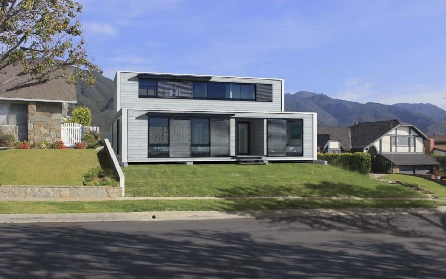 two story shipping container house