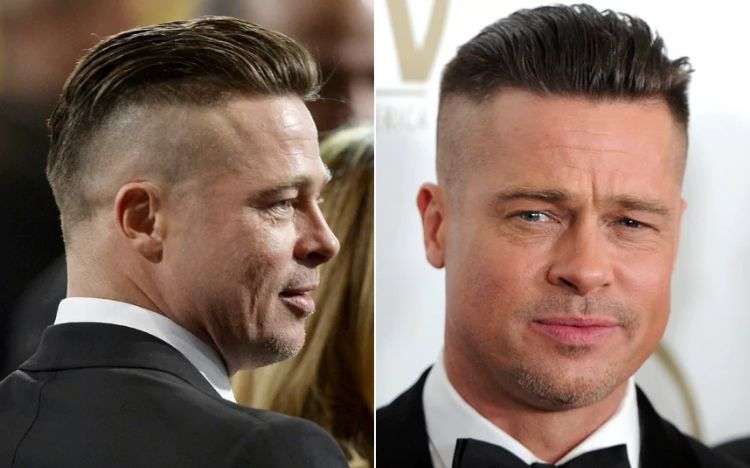 undercut men's hairstyles-brad-pitt-style military-fury