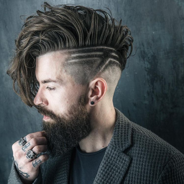 undercut men's hairstyles-variants-details-hair textures-haircut-alternative