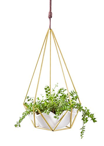 Mkono Himmeli Hanging Planter with Ceramic Plant holder Wall...