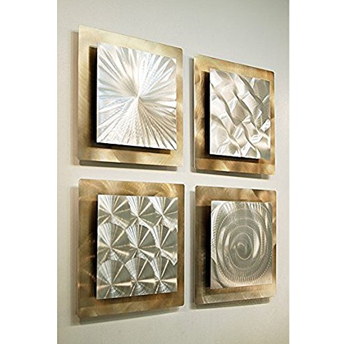 Statements2000 Gold & Silver Metal Wall Art - Large Modern...