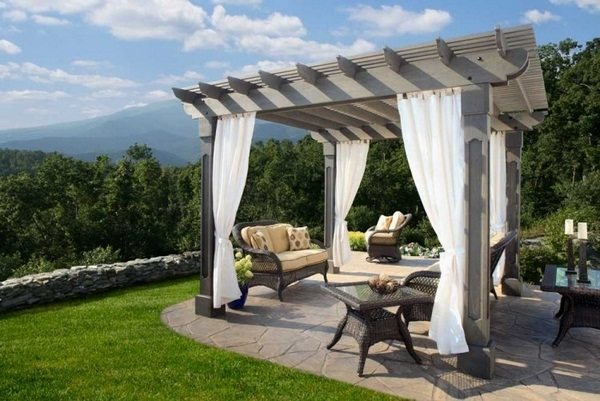 Wood Pergola With Curtains – 50 Ideas For Privacy In The Garden - Decor10  Blog - Wood Pergola With Curtains €� 50 Ideas For Privacy In The Garden