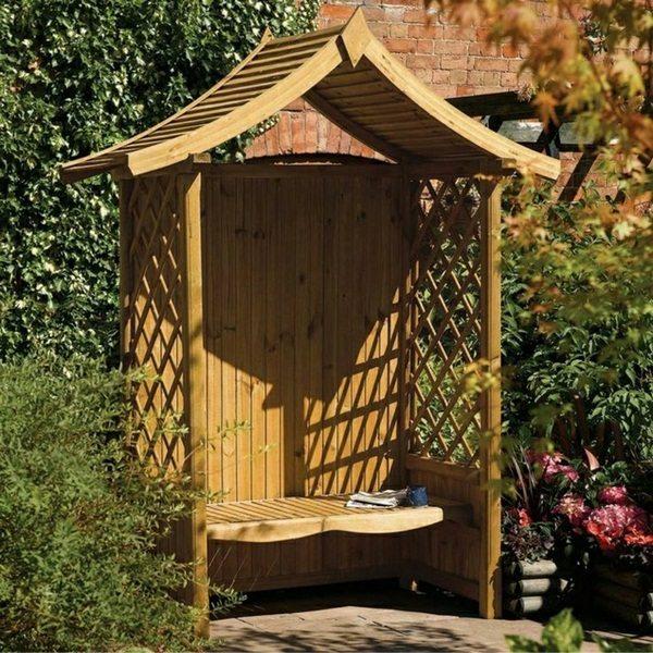Exterior Super Ideas For Garden Bench With Roof Decor10 Blog