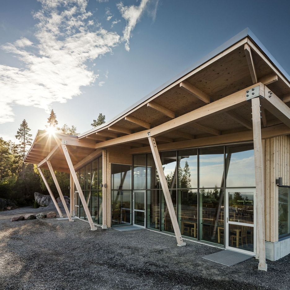 Restaurant exterior architecture - Sweco Architects Builds Timber Framed Restaurant At Sweden S Hems Fortress