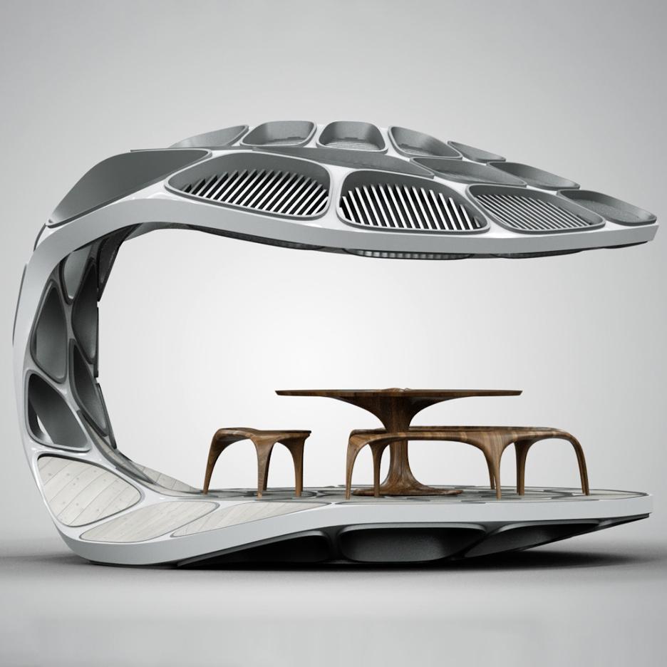 Decorator S Notebook Blog: Zaha Hadid Creates Prefabricated Volu Dining Pavilion For