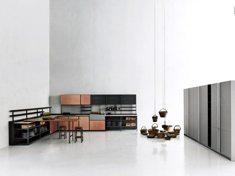 Patricia urquiola 39 s salinas kitchen system for boffi hides wires and pipes decor10 blog - Cuisine boffi ...