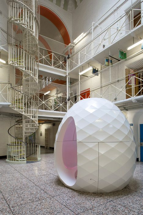Karl Lenton Designs Egg Shaped Movable Therapy Pods For