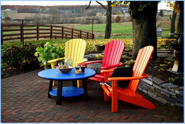 : Adirondack Chair Plastic And Table Set Beautiful