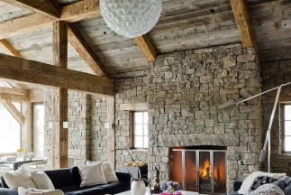 Perfect Ski Retreat in Big Sky, Montana: The Rustic Redux Project