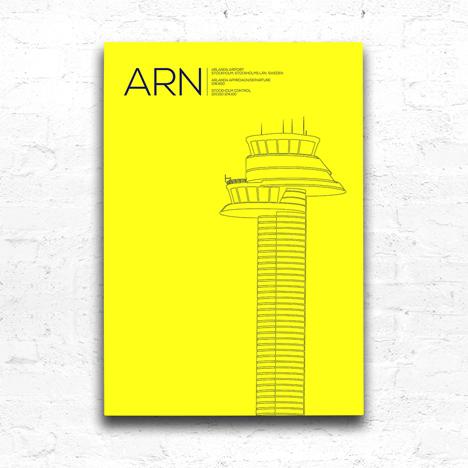 Arlanda Airport control tower, Stockholm, Sweden