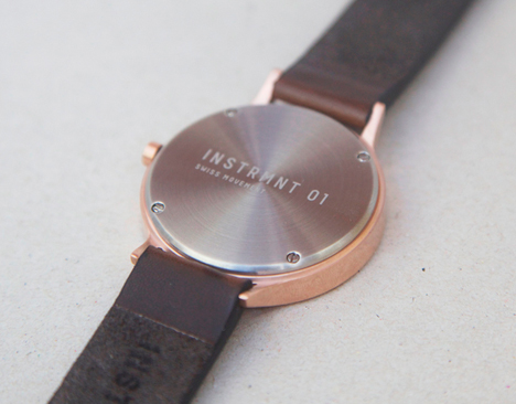 INSTRMNT 01 features a Swiss-made Rhonda 585 movement