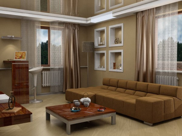 : Brown Living Room Furniture Design Ideas