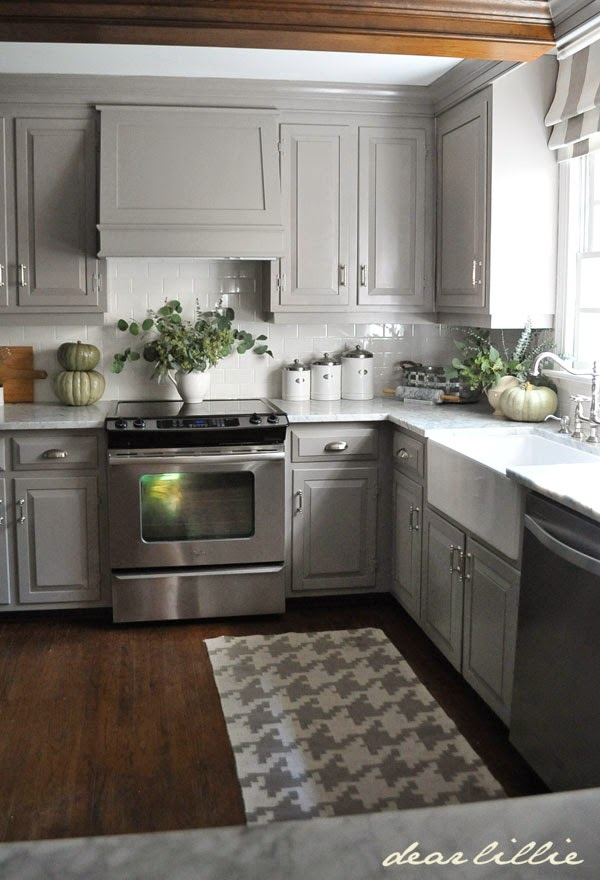 Darker Gray Cabinets And Our Marble Review - Decor10 Blog on