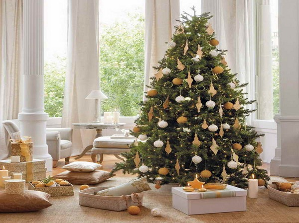 christmas-tree-with-stars-candle-decorating-ideas-amazing-classic-christmas-tree-decorating-ideas