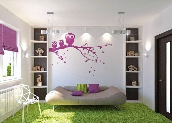 color interior design ideas purple carpet