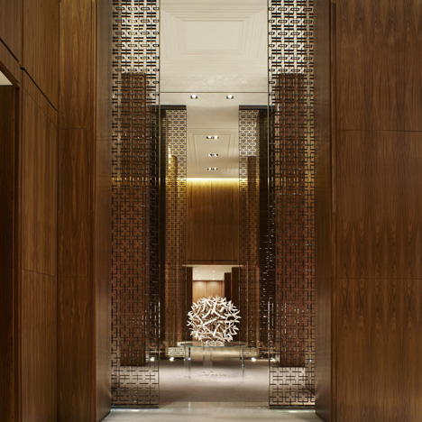 This image: Interior of Four Seasons Toronto, Canada, by Yabu Pushelberg – top image: Bellevue by Very Wood