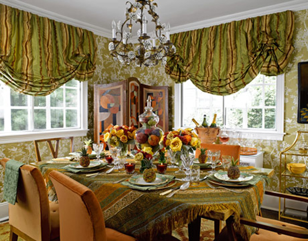Decorating ideas for a dining room table1