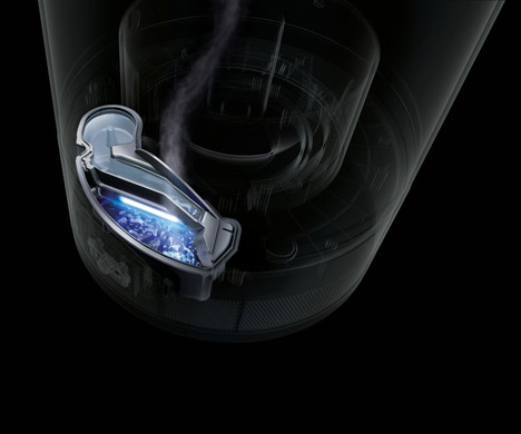 Dyson's humidifier pretreats water with ultraviolet light to kill waterborne bacteria