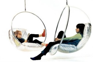Transparent Ball Chair or Bubble Chair by Eero Aarnio