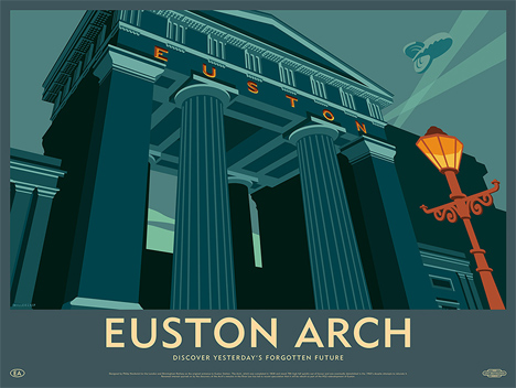 This image: Euston Arch was demolished in the 1960s – Top image: Birmingham New Street Signal Box