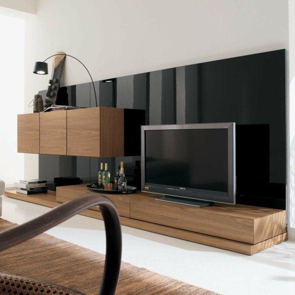 Exclusive TV Furniture Designs Decor Blog - Black wall behind tv