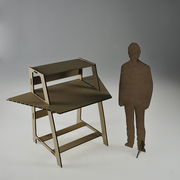 3D fabrication Desk le bureau par Peter Borges