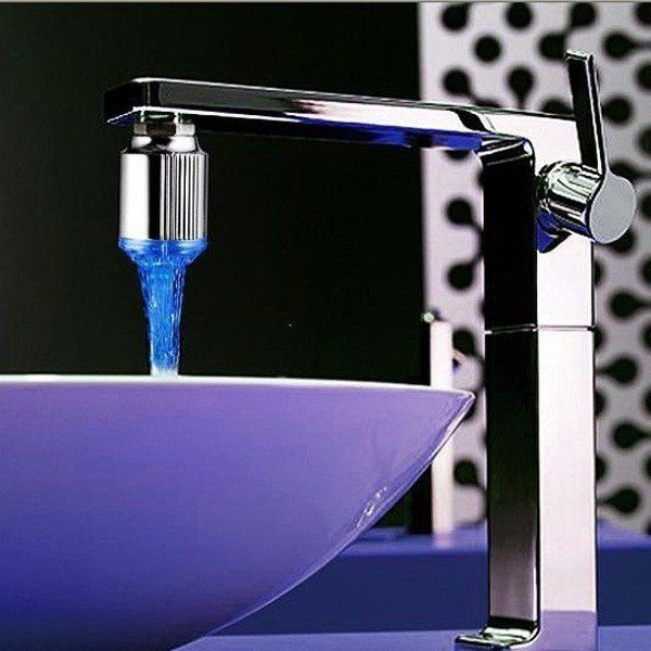 faucet with led light