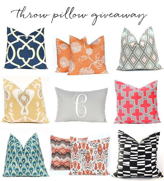 Decorative Throw Pillow Giveaway - Decor10 Blog