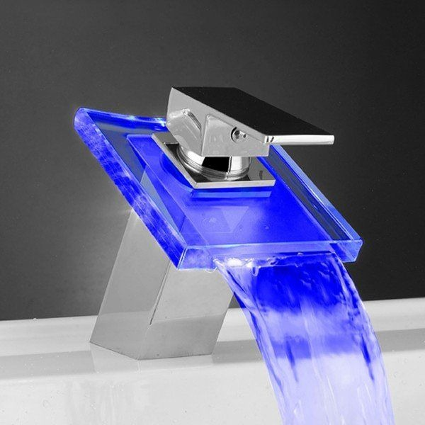 glacier bay faucets with led light
