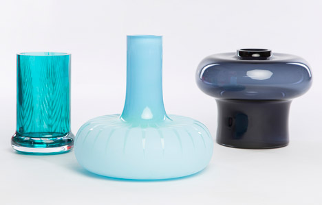 Graphic Vases by Kristine Five Melvaer for Magnor Glassverk