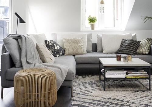 gray sofa decoration