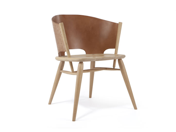 Hamylin chair la chaise de cuir par gareth neal decor10 blog for Bois de la chaise